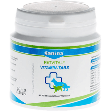 Canina Pet Vital Vitamin Tablets for Dogs & Cats 50 Tablets 100g
