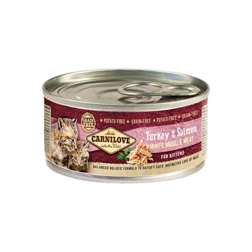 Carnilove cat tin Turkey and salmon for kittens, 100g