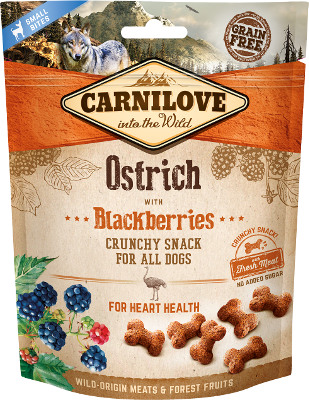 Carnilove Crunchy dog Snack Ostrich with Blackberry, 200g