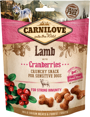 Carnilove Crunchy dog Snack Lamb with Cranberry, 200g