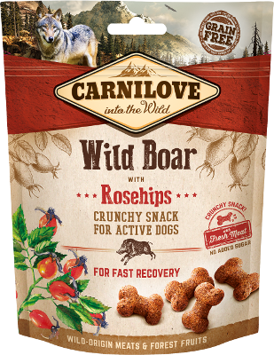 Carnilove Crunchy dog Snack Wild Boar with Rosehips, 200g