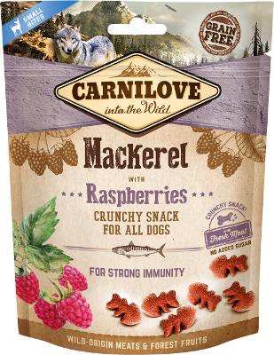 Carnilove Crunchy dog Snack Mackerel with Raspberries, 200g