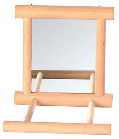 Mirror with Wooden Frame