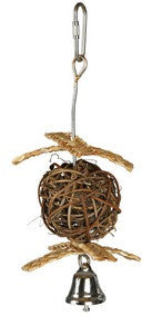 Natural Living Wicker Ball with Bell