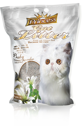Princess Scented Cat Litter Baby Powder