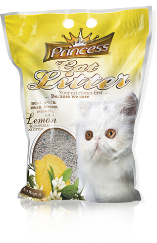 Princess Scented Cat Litter Lemon