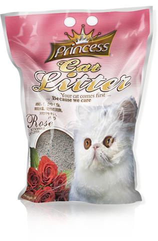 Princess Scented Cat Litter Rose