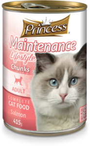 Princess Adult Cat Lifestyle Chunks Salmon - 415g Tin