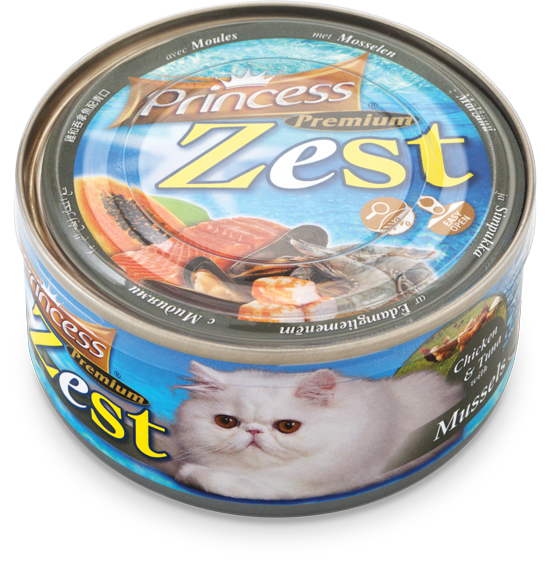 Princess Premium Zest Chicken/Tuna/Mussels 170g