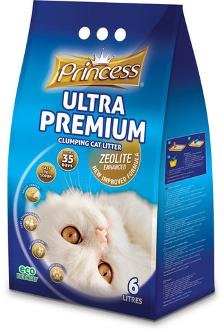 Princess Ultra Premium clumping zeolite litter