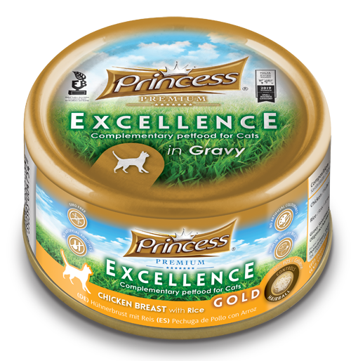 Princess Excellence Chicken Breast with Rice GOLD (Hairball)