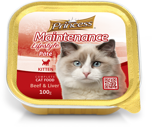 Princess Foil, Kitten Beef and Liver, 100g
