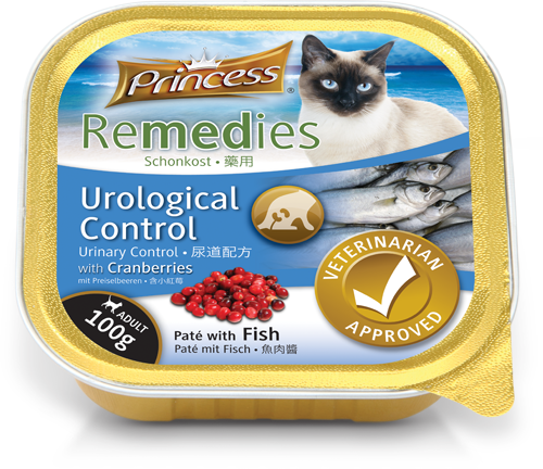 Princess Remedies Pate with Fish, Urological Control with Cranberries, 100g