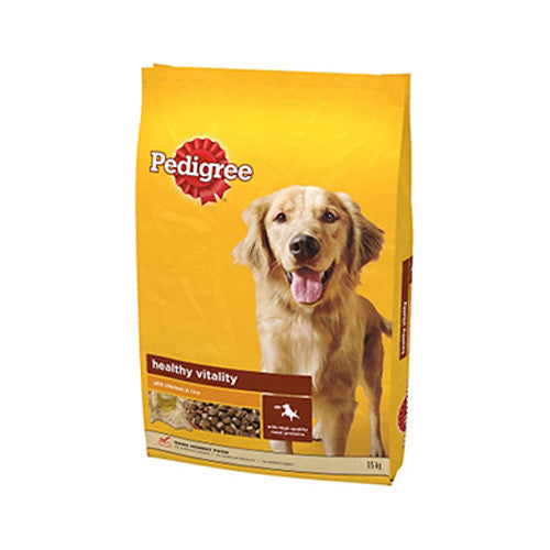 Pedigree Adult Chicken & Rice - 15 Kgs