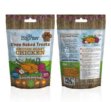Little Big Paw - British Roast Chicken Oven Baked Treats for Dogs (130g)