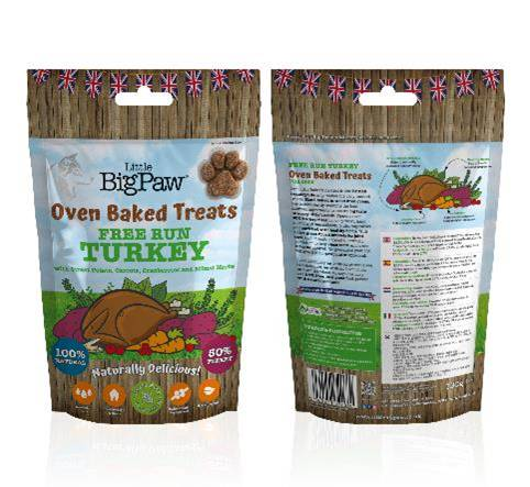 Little Big Paw - Free Run Oven Baked Turkey Treats for Dogs