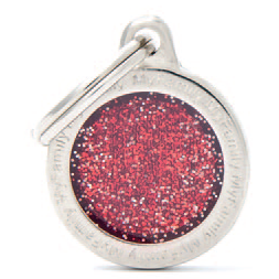 Red Small Glitter Circle