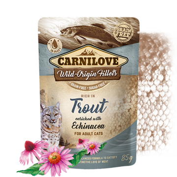 Carnilove cat pouches Rich in Trout enriched with Echinacea