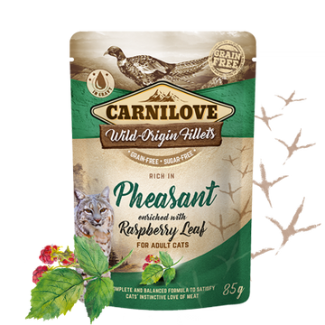 Carnilove cat pouches Rich in Pheasant enriched with Raspberry Leaves