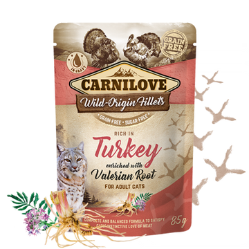 Carnilove cat pouches Rich in Turkey enriched with Valerian