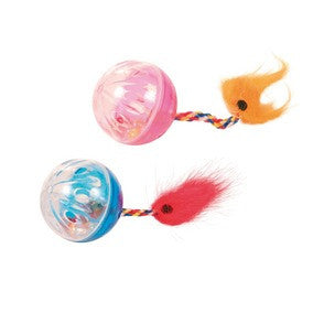 Set of Rattling Balls with Tails