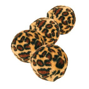Set of Toy Balls with Leopard Print