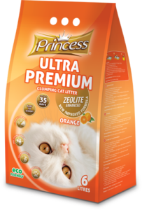 Princess Ultra Premium clumping zeolite litter, Orange