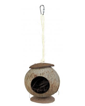 Small house in coconut Measurements: ø 13 × 31 cm