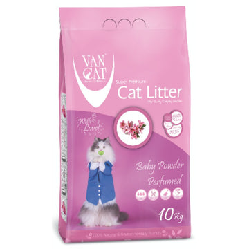 Van Cat Clumping Litter , Baby Powder