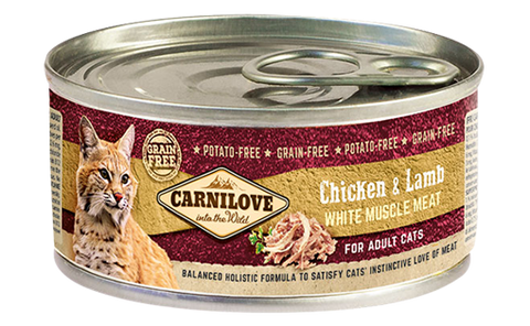 Carnilove cat tin Chicken and lamb, 100g