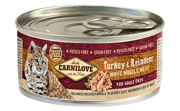 Carnilove cat tin Turkey and Reindeer, 100g