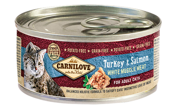CARNILOVE cat tin turkey&salmon for adult cats, 100g