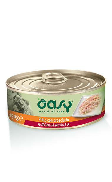 Oasy Dog Wet Food, Chicken with Ham