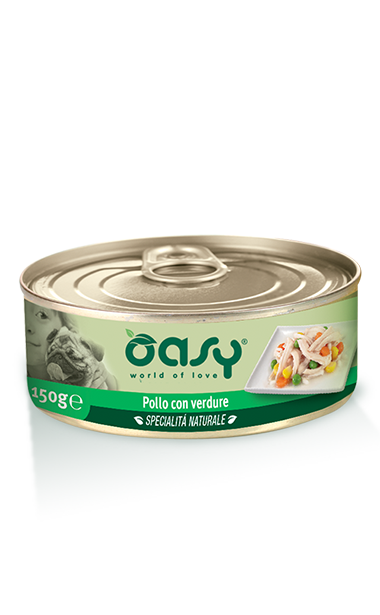 Oasy Dog Wet Food, Chicken with Vegetables