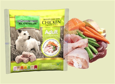 Nature's Menu, Dog Frozen Chicken, Veg and Rice, Bite Size Nuggets, 1 Kg