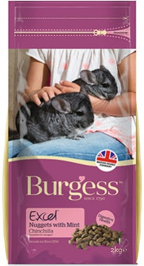 Burgess Excel Chincilla nuggets with mint