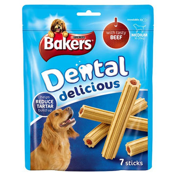 Bakers Dental Delicious Medium, Beef. 200g
