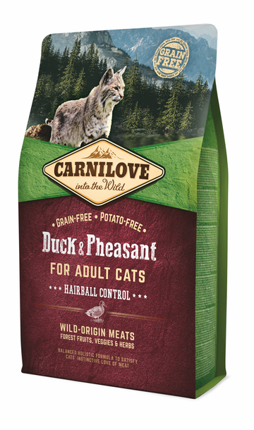 Carnilove dry cat Adult Hairball Control - Duck & Pheasant