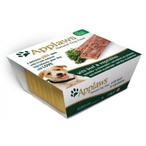 Applaws dog Foil pate Beef and Vegetables, 150g