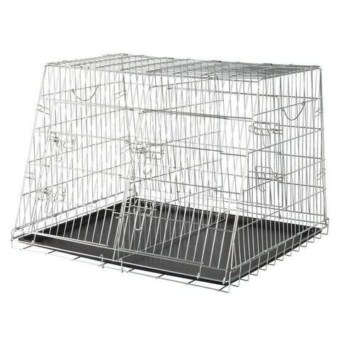 Home Kennel, Galvanized, Double