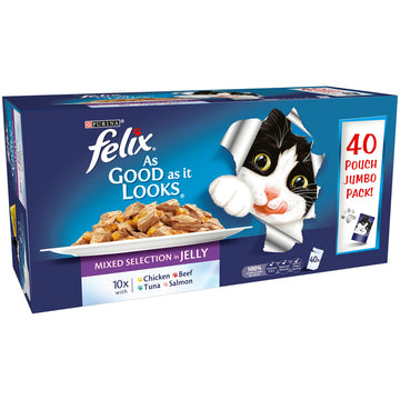 Felix As Good As It looks JUMBO Mixed Selection - 40 pouches
