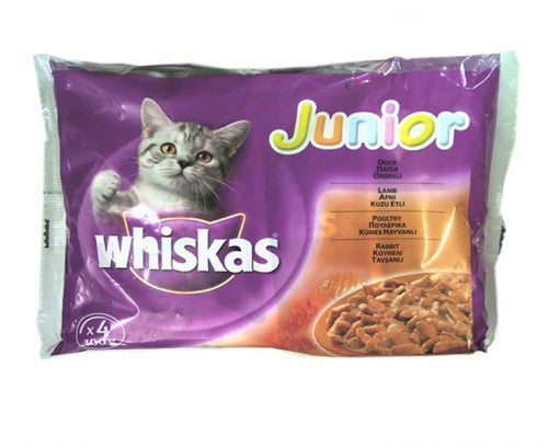 Whiskas Junior Variety Pack - 4 POUCHES X 100GR