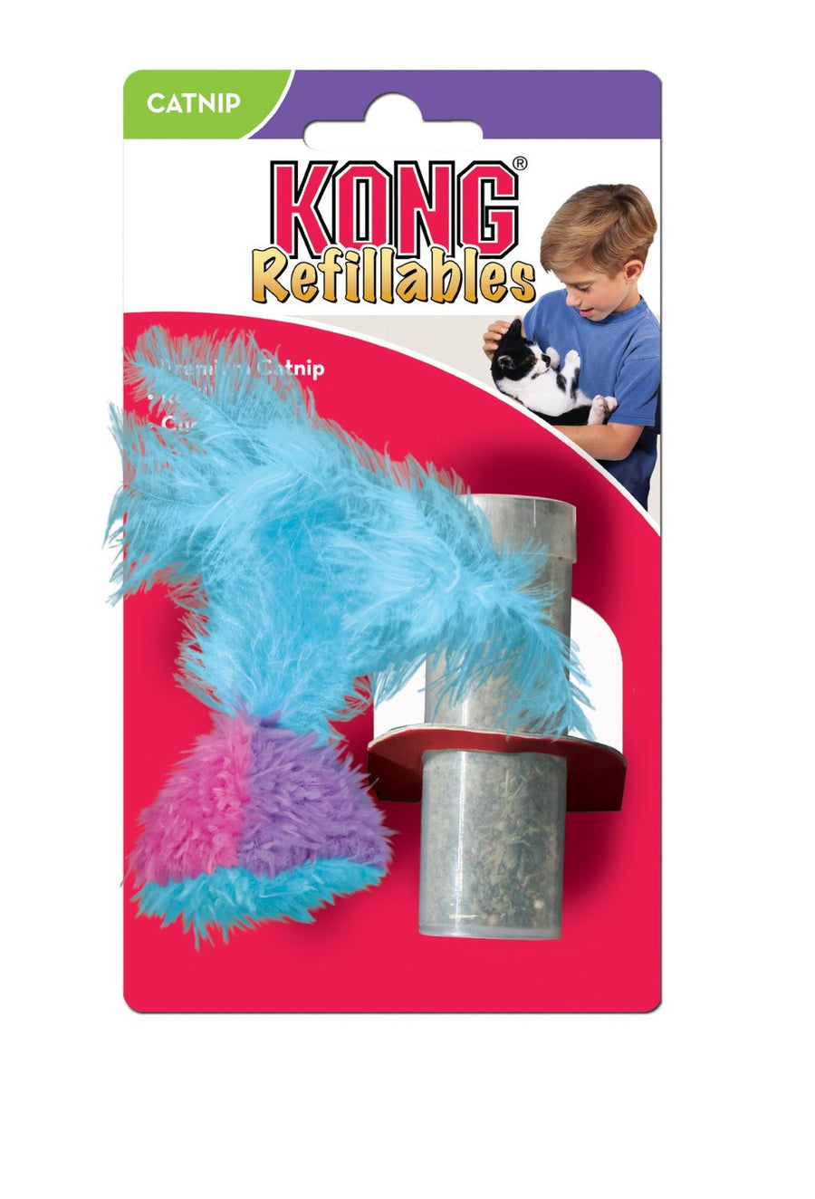 KONG - Cat Refillable Catnip Feather Tumbler