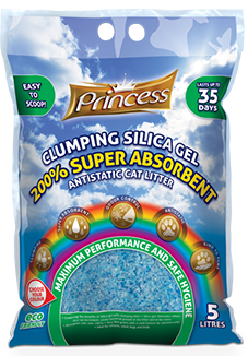 Princess Super Absorbent 200% Clumping Silica gel Litter, 5L (1.8kgs)