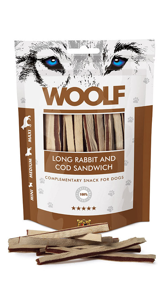 Woolf long rabbit/cod sandwich