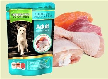Natures Menu Cat pouch Chicken with Salmon and Tuna, 100gr