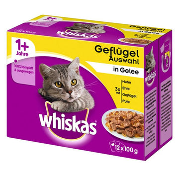 Whiskas Poultry Selection Variety Pack - 12 POUCHES X 100GR