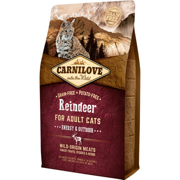 Carnilove dry cat Adult Energy / Outdoor - Reindeer