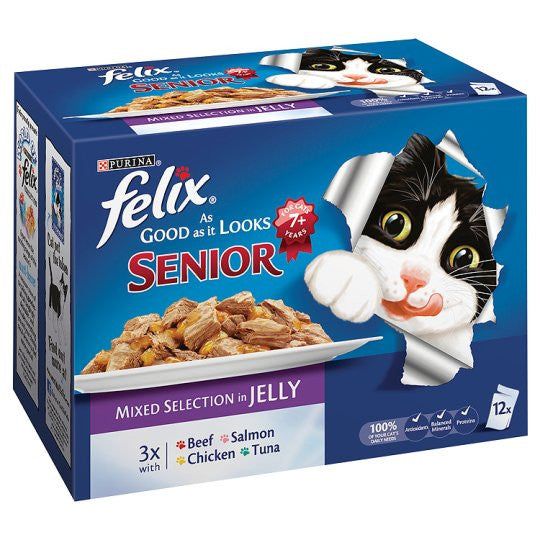 Felix As Good as it Looks Pouches Senior, 12 Pack