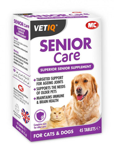 VET IQ Senior Care suppliment Cat & Dog (45Tabs)